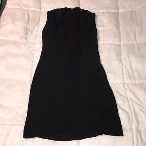 Women's black sleeveless dress